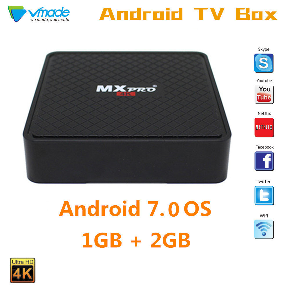 Android 7.0 TV BOX Smart TV Box Allwinner_H3 1GB 8GB Quad-core Suppot H.265 HD 4K 2.4GHz BT4.0 WiFi V96S pk X96 H96 Set-top Box
