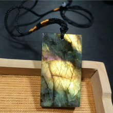 Natural flash labradorite crystal reiki healing gemstone pendant as gift wholesale