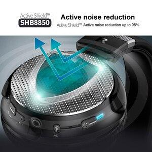 Image 3 - فيليبس الأصلي SHB8850 نشط الضوضاء إلغاء سماعة لاسلكية تعمل بالبلوتوث سماعات NFC سماعة مع ميكروفون التحقق الرسمي