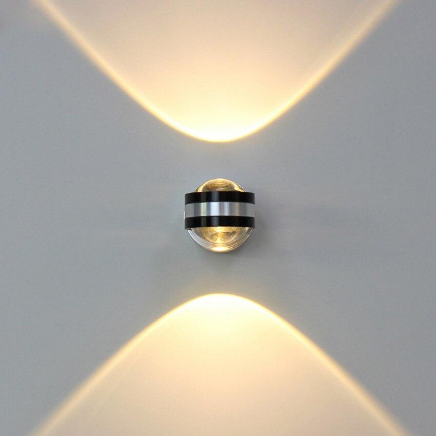 6 W LED luz de pared de aluminio llevó la iluminación de interior luz lámpara de pared para sala de estar de noche dormitorio lámparas de pared BL10