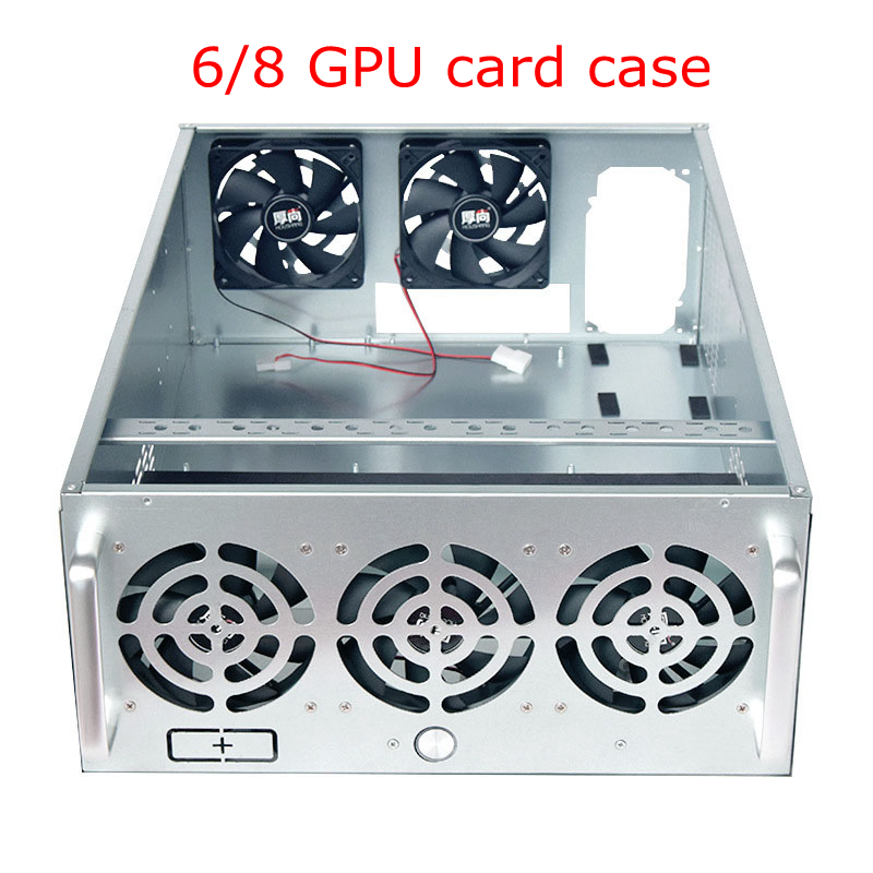6/8 GPU 5 fans PC Frame Open Air Pro Mining rig Case USB miner server cabinet rack graphics card chassis ETH BTC ZEC XMR Coin steel coin open air miner mining frame rig case up to 8 gpu graphics card btc ltc eth ethereum for miner bitcoin bitman pc case