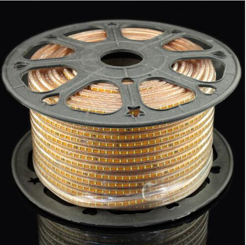 New pattern 100 meter 3014 led strip AC220V 120led/Meter IP67 waterproof outdoor garden light white/warm white/blue with EU plug
