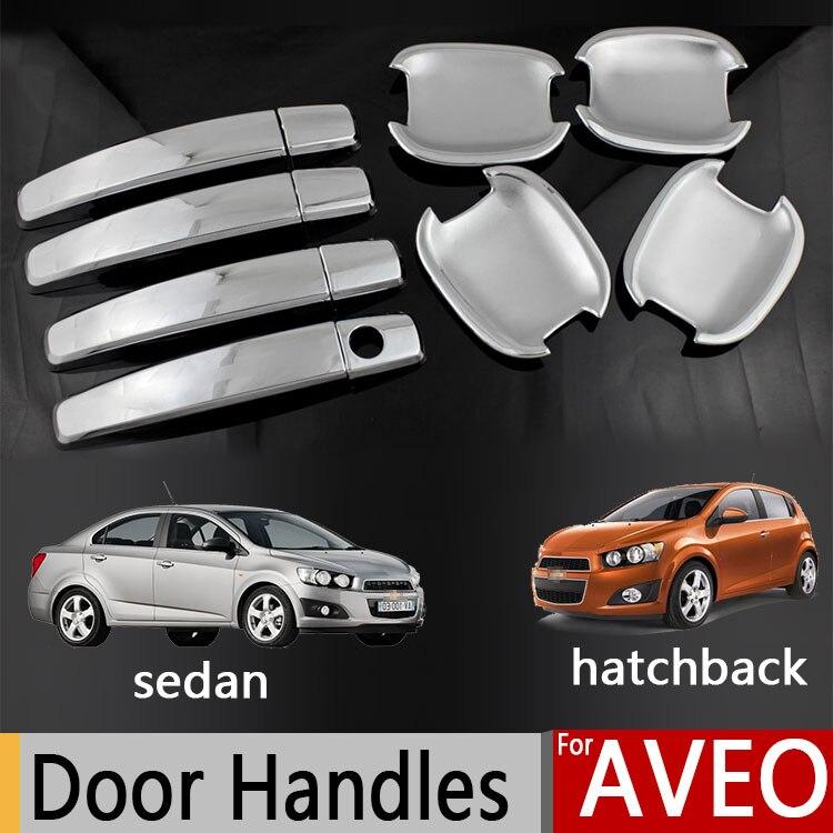 For Chevrolet Aveo Sonic Holden Barina Chrome Door Handle Covers