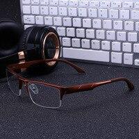 Vazrobe Alumium Magnesium Eyeglasses Frame Men Half Rim Eye Glasses Frames For Man Sport Style Optical