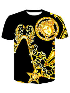 Funny T-Shirt Short-Sleeve Summer Tops Animal Cool 3d-Print Fashion 4XL Male Men
