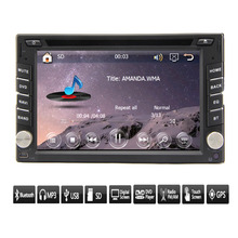 """2015 New Universal 6.2"""" HD Double 2 Din GPS Navigation Car Stereo DVD CD MP3 Player Bluetooth In Dash Car Stereo Radio iPod TV"""