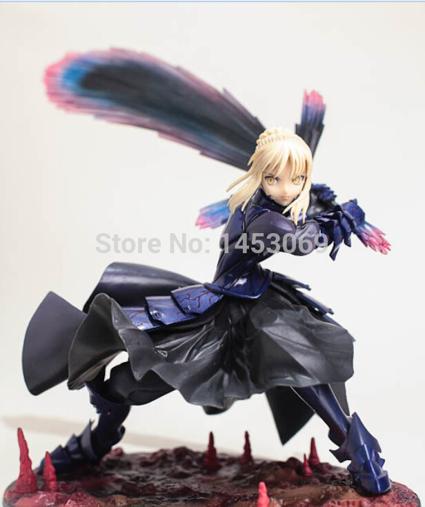 Anime Fate/stay night Black Saber PVC Action Figure Collection Model Toy 7 18CM плюшевые аниме подушки игрушки poly moe fate stay night saber 2way bz1105