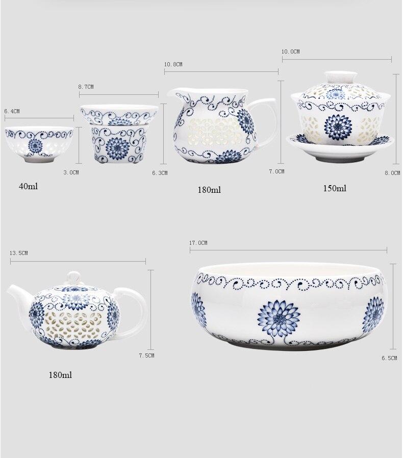 Service à Thé Porcelaine de Chine dimention 2 | OkO-OkO™