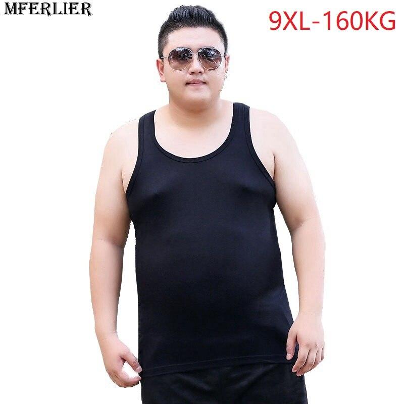 MFERLIER summer 2018 men   tank     tops   plus size big 6XL 7XL 8XL large size   tank     tops   9XL 10XL Modal high elasticity 150KG 48-50-52