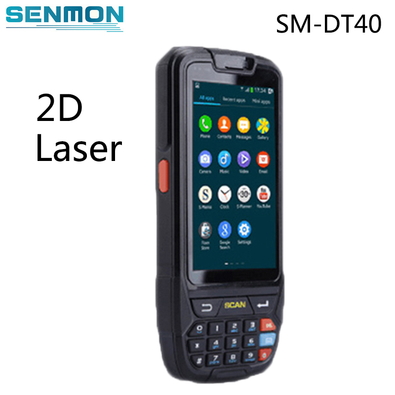 High Battery Capacity 4000mA Android Barcode Scanner Handheld Terminal PDA with 2D Barcode Scanning free shipping lv3070 2d barcode scanner module for pda with ttl232 interface