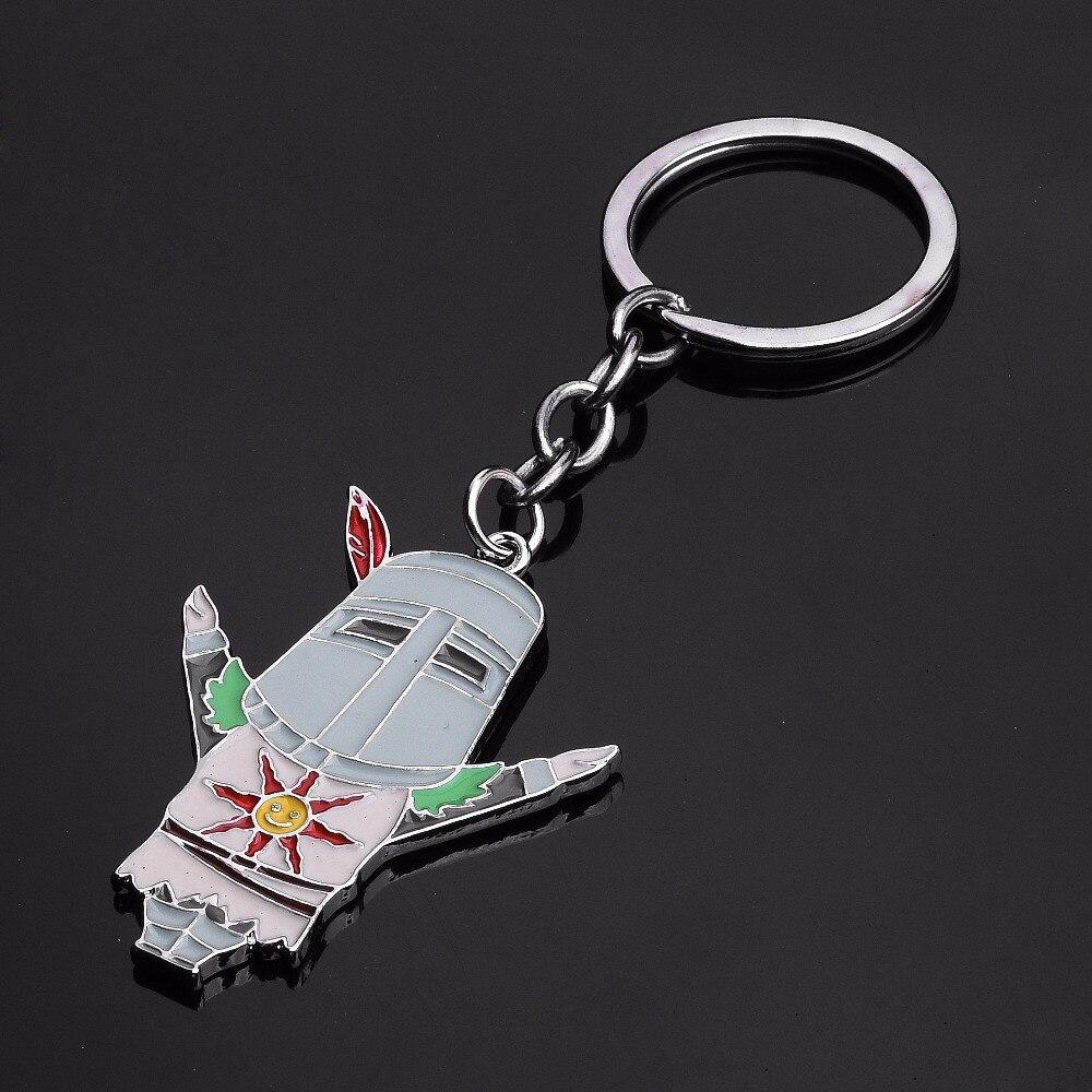 Dark Souls 3 Solaire Of Astora Fire Keeper Keychain Cute Cartoon Character Pendant Key Chain Women Men Kids Jewelry Gift