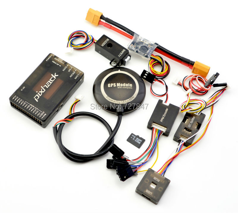 CUAV Pixhack (Upgrade Pixhawk 2.4.6 ) Flight Controller M8N GPS ...