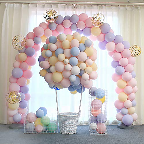 METABLE 100pcs Macaron Candy Colored Latex Balloon for Birthday Party Supplies Wedding Ceremony Arch Tower