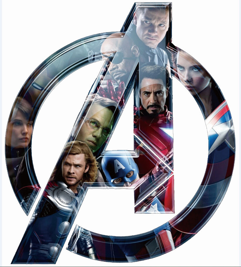 Envío libre 24x27 inch Avengers Superhéroe logo Seda DEL