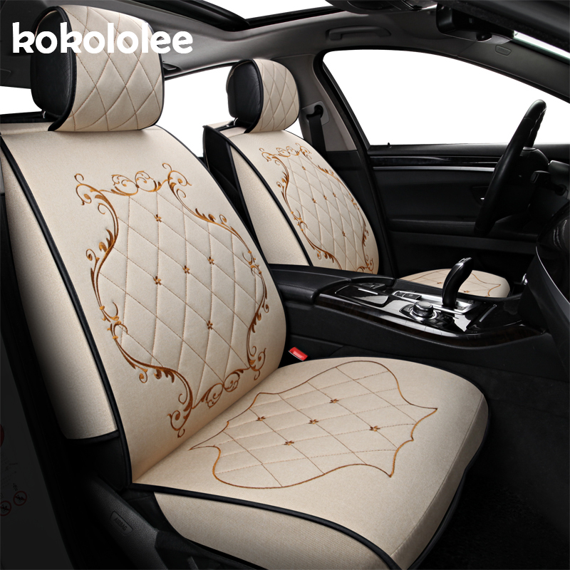 (Front + Rear) Special flax car seat covers For Chery Ai Ruize A3 Tiggo X1 QQ A5 E3 V5 QQ3 QQ6 QQme A5 BSG E5 auto accessories