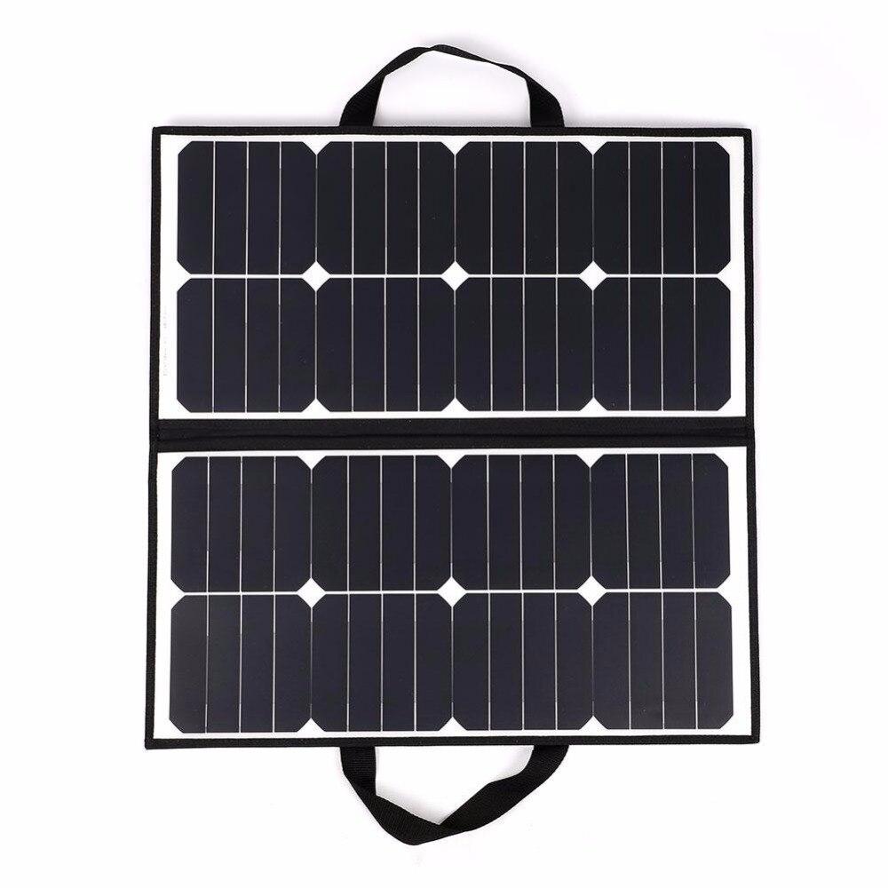 Portátil al aire libre 50 W 18 V Camping impermeable plegable Panel Solar cargador para batería Covenience herramienta de Camping al aire libre - 3