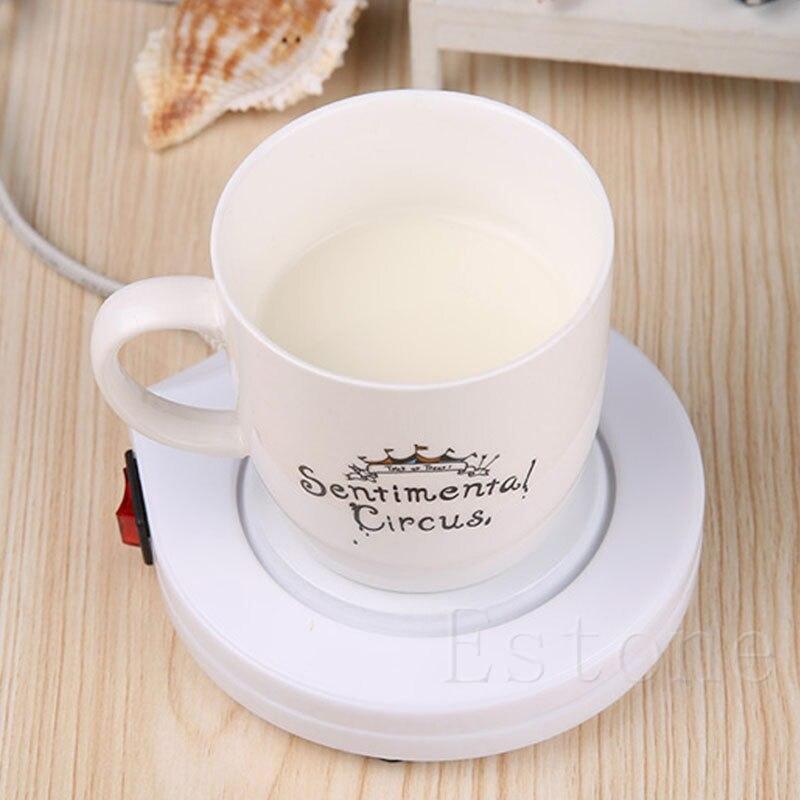 bureau maison utiliser lectrique chauffe tasse caf lait chauffage pad ac 110 v gaiement. Black Bedroom Furniture Sets. Home Design Ideas