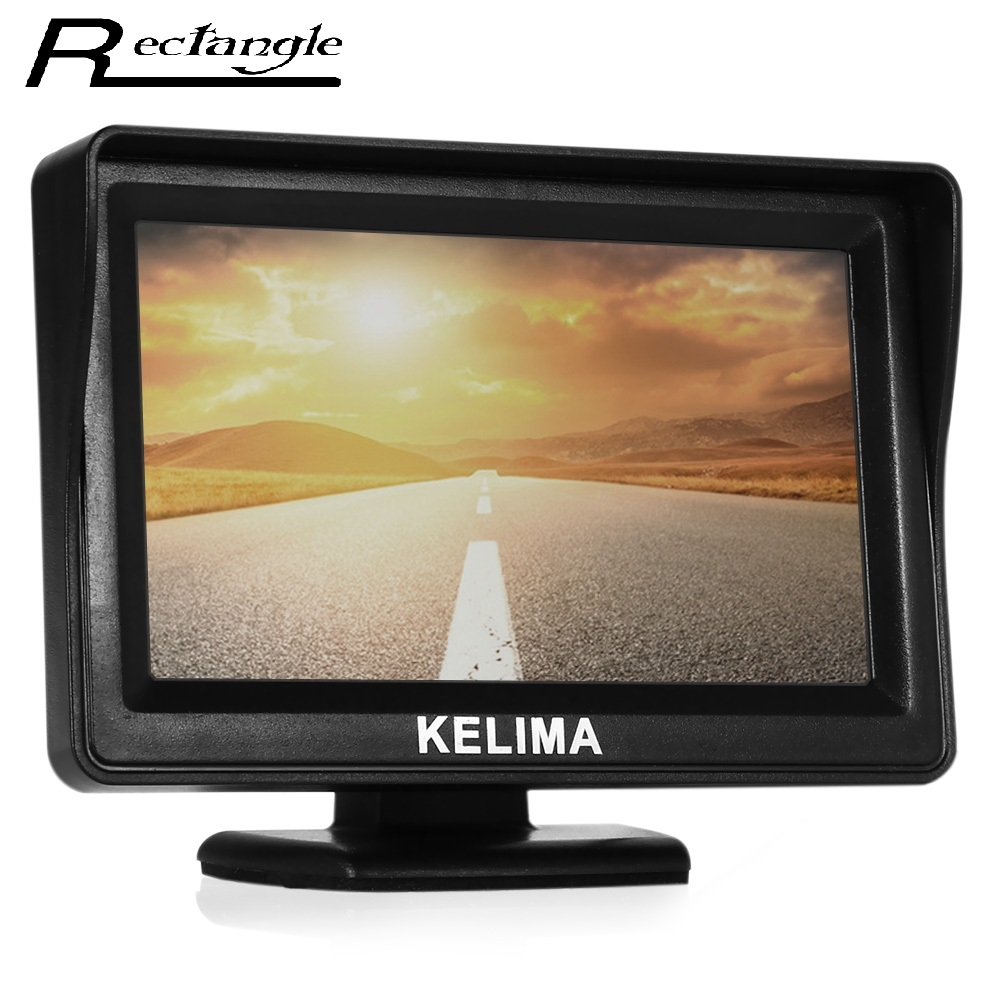 Hot sale car rearview rearview display mirror with 4 3 for Mirror screen
