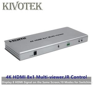 Image 1 - 4K HDMI 8x1 Multi Viewer Switcher อะแดปเตอร์ 8xHdmi 1 หน้าจอ, หญิง IR ควบคุม Divider Conveter สำหรับกล้องวงจรปิด HDTV