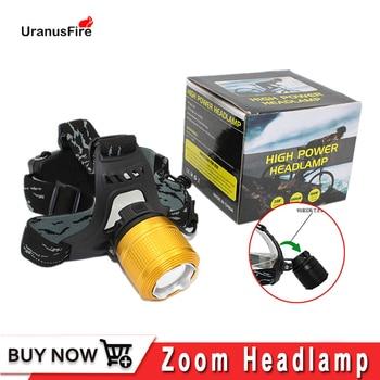 Uranusfire Powerful T6 LED Zoom headlamp waterproof IP54 headlight 18650 battery xml t6 1000 Lumen led head flashlight lighting sitemap 139 xml