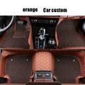 Esteras del Piso del coche Para Audi A6L Q3 Q5 Q7 S4 A5 A1 A2 A3 A4 b8 B7 B6 A6 c5 c6 A7 A8 accesorios car styling felpudos personalizado