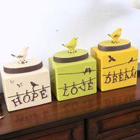 1 комплект (3) в стиле кантри картина старинное практичное керамическое украшение резервуар для хранения птица антикварные украшения для до