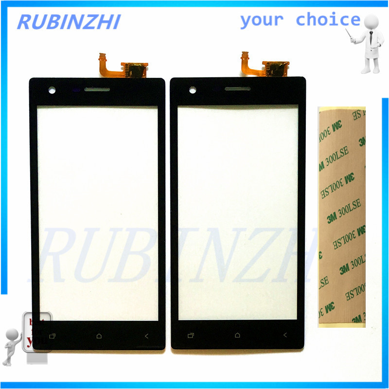 RUBINZHI Phone Touch Screen For Micromax Q413 Panel Digitizer Front Glass Lens Touchscreen Sensor Glass Replacement+tape