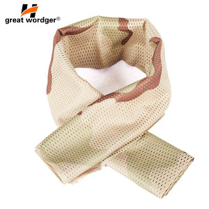 Image 2 - Military Tactical Windproof Camouflage Scarf Men Mesh Anti dust Army Winter Warm Scarves Men For Hunting Shooting Fishing Scarf