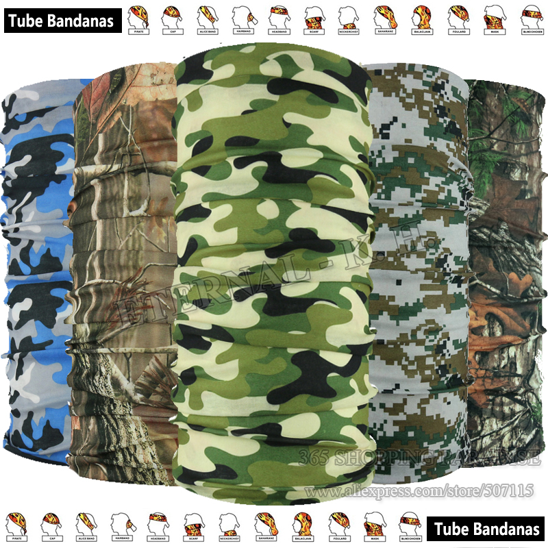 Classical Outdoor Military Camo Scarf Multifunction Headwear Forest Hunt Woodland Camouflage Magic Seamless Tubes Bandana коврик woodland forest 10 camo