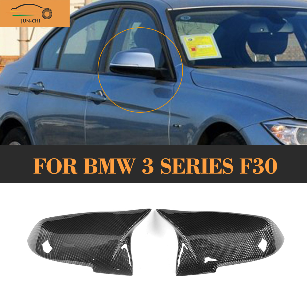 3 series Carbon Fiber Side Mirror Covers for BMW F30 F31 regular Convertible M Sport F34 GT Hatchback standard 13-17 LHD Non M 4 series replacement carbon fiber mirror covers caps shell for bmw f32 f33 2 door only 14 17 coupe m sport convertable lhd non m