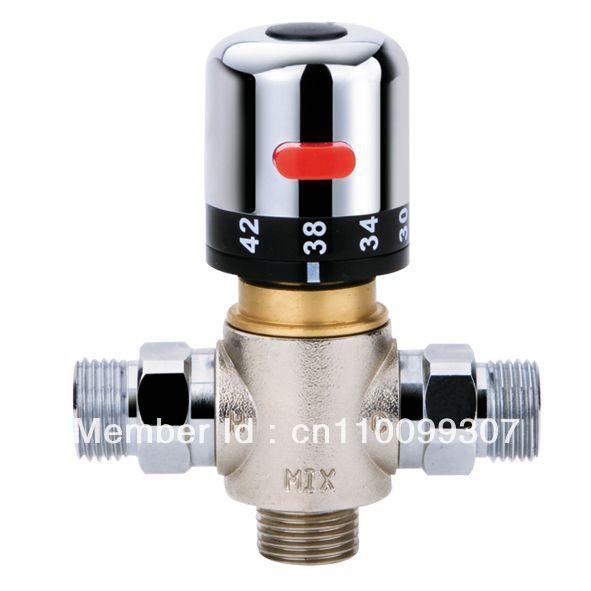 "Thermostatic Mixing Valve Solar Heater Valve Thermostatic Mixer G1/2"""