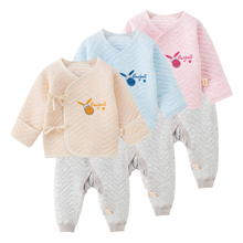 2 Pcs/Set Baby Girl Newborn Thick Sleepsuit Donkey Pattern Infant Jumpsuits Clothes Long Sleeve Underwear
