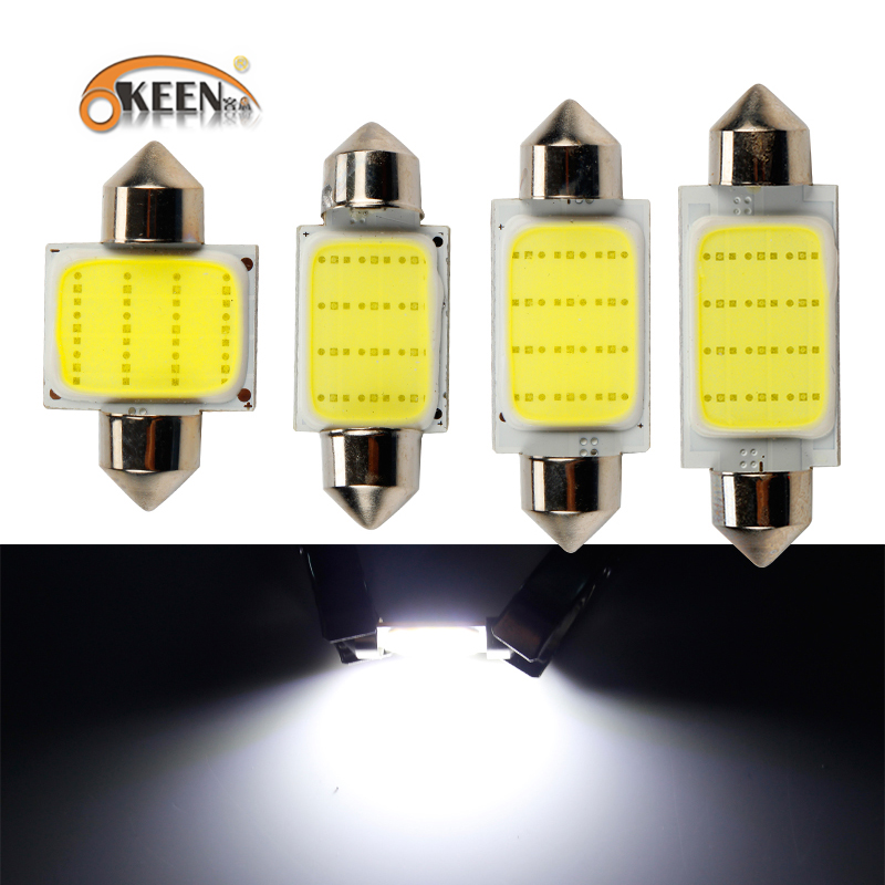 OKEEN 2pcs 4pcs Car <font><b>Led</b></font> Festoon Lights 36mm 39mm <font><b>42mm</b></font> 31mm <font><b>Led</b></font> Festoon 6000K White <font><b>led</b></font> Festoon <font><b>Bulb</b></font> Light Reading Interior Lamp image