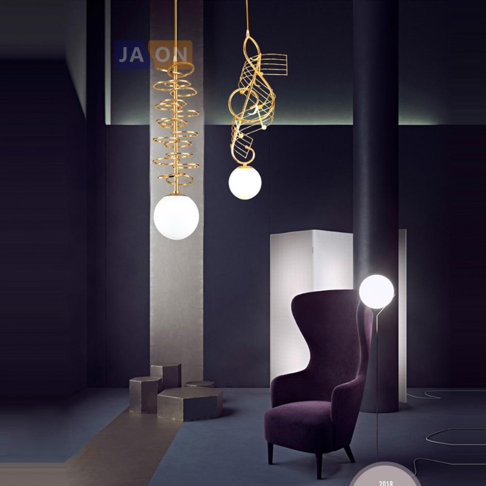 LED Postmodern Iron Glass Gold White LED Lamp LED Light.Pendant Lights.Pendant Lamp.Pendant light For Dinning Room|Pendant Lights| |  - title=