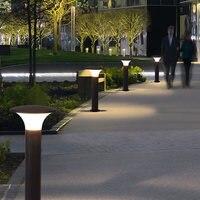 Rue lumière étanche jardin luminaire pour la cour en plein air led pathway lumière mur colonne lampe de paysage extérieur