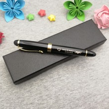 Hot Unique birthday gift pen with classic box black body gold clip custom your name free on or cap