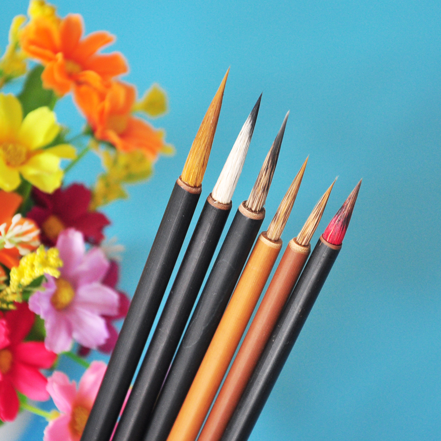 Chinese Calligraphy Brush Weasel Hair Drawing Brush Water Color Brush Pen Art Supplies Stationary Gouache Paint brush Pinceis wituse 12pcs art paint brush self moistening calligraphy pen s m l size water brush watercolor art supplies each size 4pcs