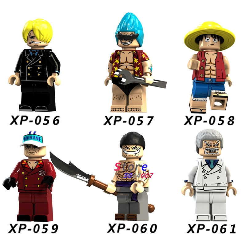 Single Building Blocks ONE PIECE Anime Figures Luffy Sakazuki Sanji Franky  Edward Newgate Collection Figure toys 47e6c8d6c2a8