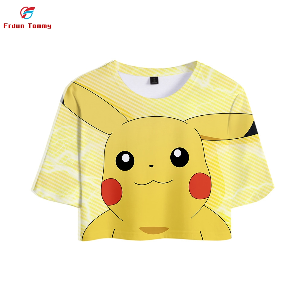 2019-new-style-3d-font-b-pokemon-b-font-printing-anime-pikachu-tops-cropped-girl-t-shirt-2019-hot-sale-short-t-shirt-women-sexy-casual-clothes