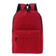 2017 сплошной цвет красный черный холст рюкзак женщины мода женский рюкзак оригинальный дизайн путешествия ноутбук back pack школьные сумки