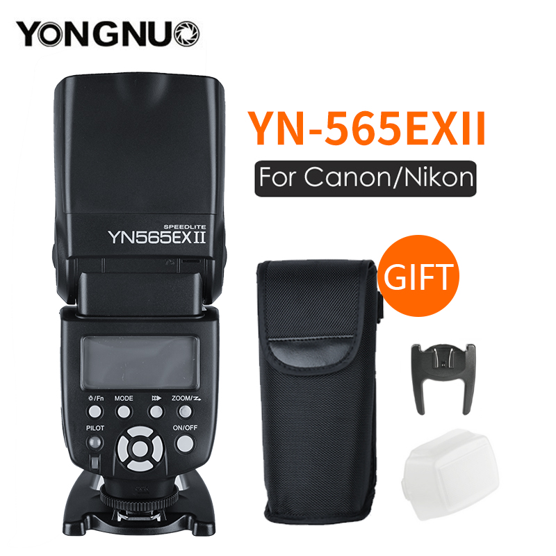 Yongnuo YN565EX YN-565EX II Flash TTL Speedlight para Canon 60d 650d Para Nikon D7100 6D D3300 D7200 D5200 D7000 D750 d90