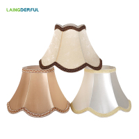 3 Colors Nordic Style Ripple Lampshade Art Deco Fabric Lamp Shades for Table Lamps Light Shade for E27 Floor Lamp Wall Lamps