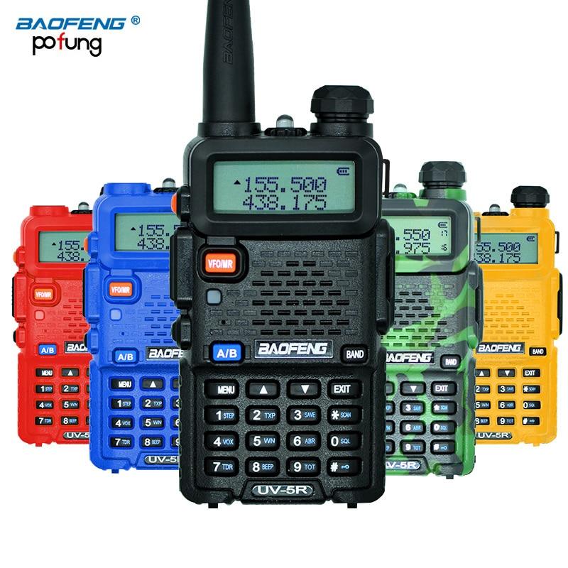Baofeng UV-5R Walkie Talkie Professionelle CB Radio Station Baofeng UV5R Transceiver 5 Watt UHF VHF Tragbaren UV 5R Jagd Schinken Radio