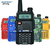 BaoFeng UV 5R Long Range Wireless Portable Walkie Talkie Power 5W Professional Dual Band VHF UHF136