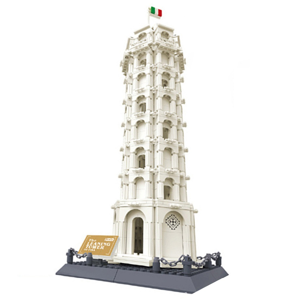 8012 Pisa Tower without original box Enlighten Building Block Set Construction Brick Toys Educational Block compatible with factory outlet iron bathroom shelf storage rack shelves multilayer promotions