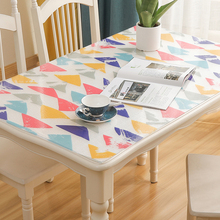 Nordic PVC waterproof oil-proof tablecloth soft glass plastic table cover non-slip Coffee table mat customize table decoration europe luxury party tablecloth non slip waterproof table cloth oil proof pvc soft glass plastic table cover coffee table mat