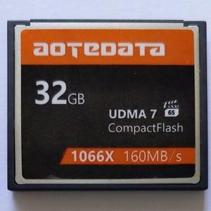 AOTEDATA Right 1000X продажа промышленная компактная вспышка CF 32 Гб 64 Гб 128 ГБ 256 Гб карта памяти для Canon SLR камера для Nikon для SONY