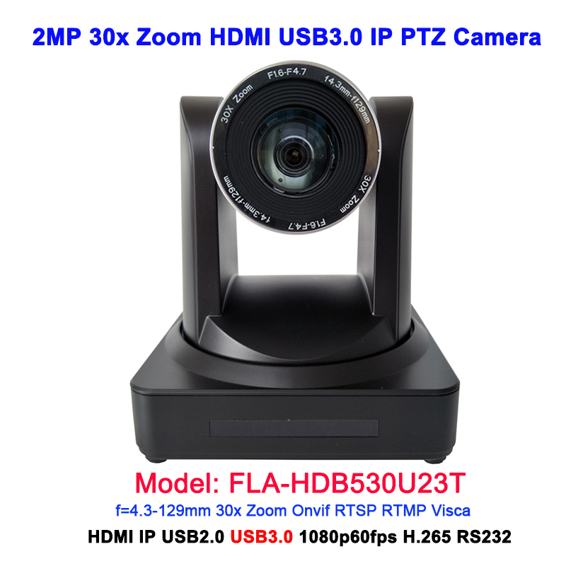 China Supplier USB2.0 USB3.0 Output 30x zoom HDMI IP Video Camera for Video Conference image
