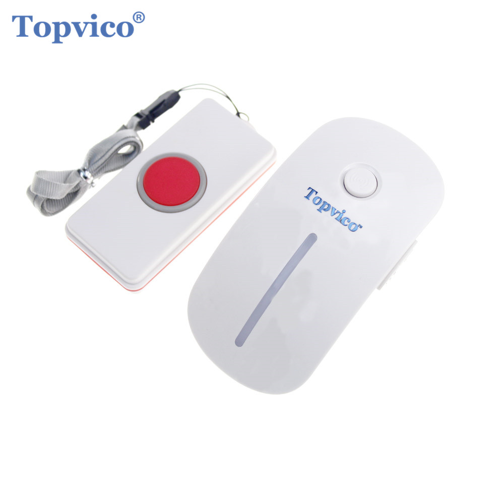 Topvico Remote Wireless SOS Kit 1 Pair Work Alone Old People Hospital Emergency Calling Help Home Security Alarm Sensor System