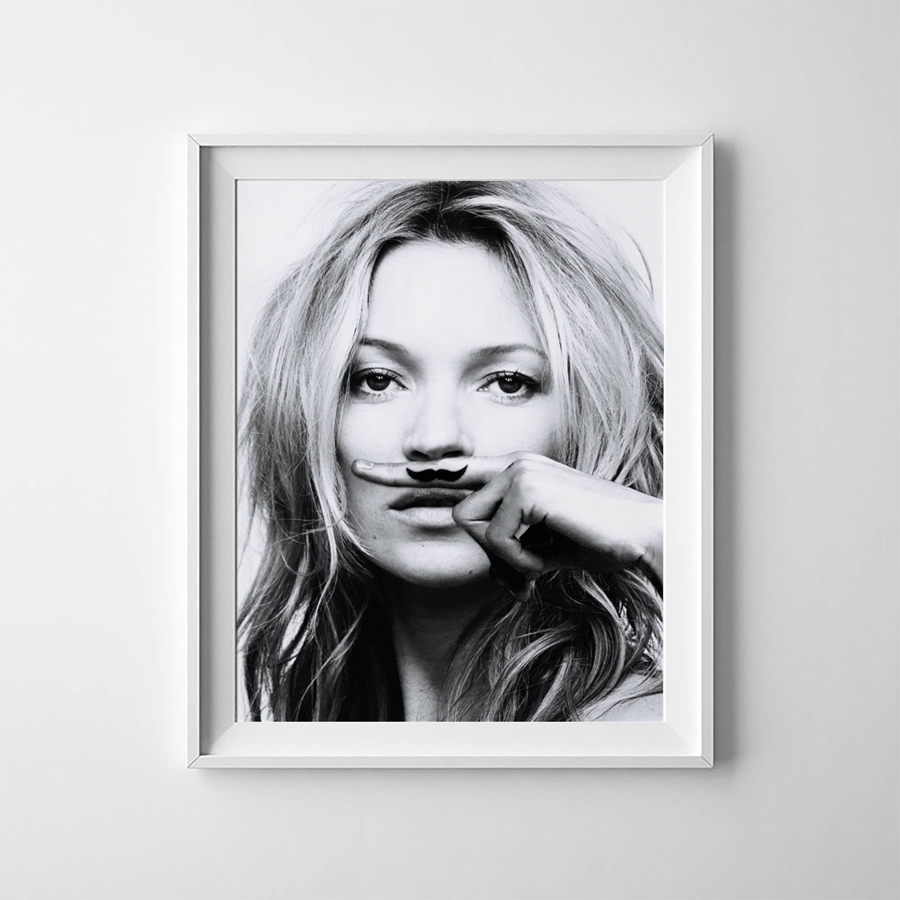 Canvas Kate Moss Art Print Poster